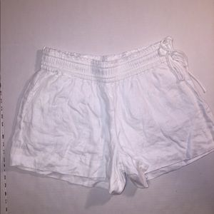 J.CREW White Linen Shorts with Side Ties